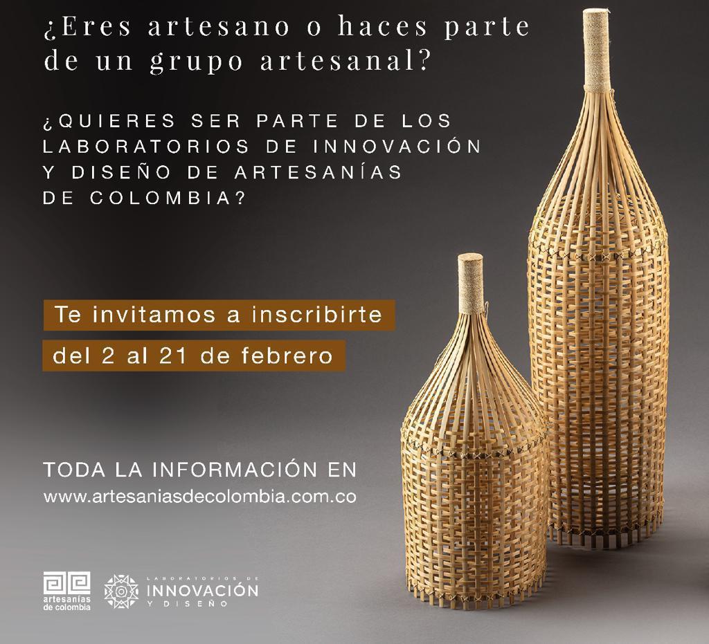 Artesanos de Sucre podrán inscribirse al programa de Laboratorios de Innovación y Diseño de 2021