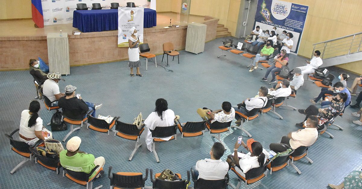 Primera reunión del Consejo Departamental de Cultura de Sucre