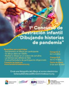 Fondo Mixto de Cultura de Sucre convoca 1° Concurso de ilustración infantil – Dibujando historias de pandemia